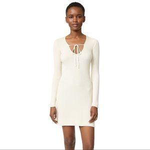 For Love & Lemons Delancey Mini Dress Cream S NWT
